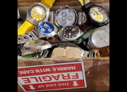 "Box full of Irony. Irony 1...Iron is strong, yet nearly every watch in this photo was loved and used so well that it was broken in some way before landing in my collection. Irony 2...though ""broken"" in some way, every watch in this image still has life as"