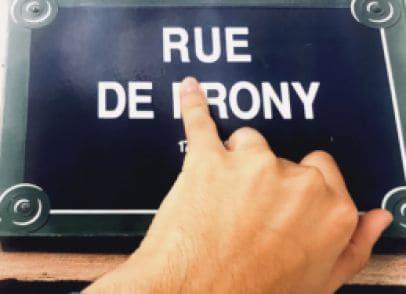 Greetings from Paris, Rue de Irony ;)