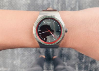 """Telling the time with the Swatch """"Muffin"""" - YIZ402 // When the contest was announced, I knew I had the perfect IRONY in the form of the original Hackett Sistem51 that was launched last year.  I love pairing my outfits to the watches I wear everyday. It is"""