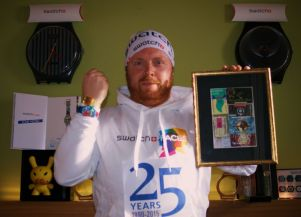 """THE HARD RACE TO BECOME THE """"GOLD MEMBER"""" OF THE 25th SWATCH CLUB ANNIVERSARY"""