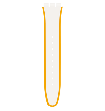YELLOW & WHITE SILICONE STRAP 6H