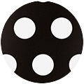 BLACK-WHITE DOTS SILICONE STRAP 12H