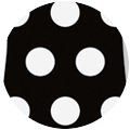 BLACK-WHITE DOTS SILICONE STRAP 6H