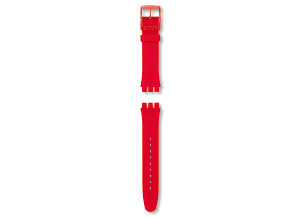 RED LACQUERED / SILICONE STRAP