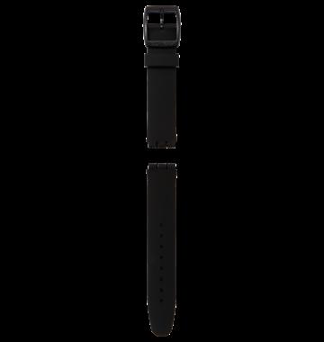 SKIN CHRONO BLACK SILICONE STRAP 18mm