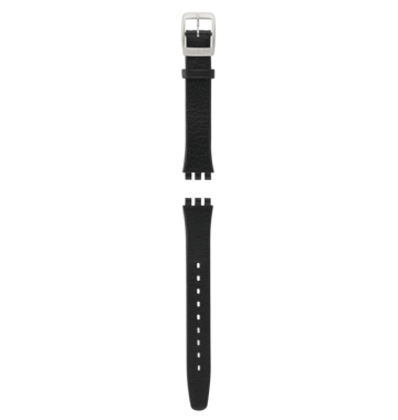 SMOOTHLY BLACK / LEATHER STRAP