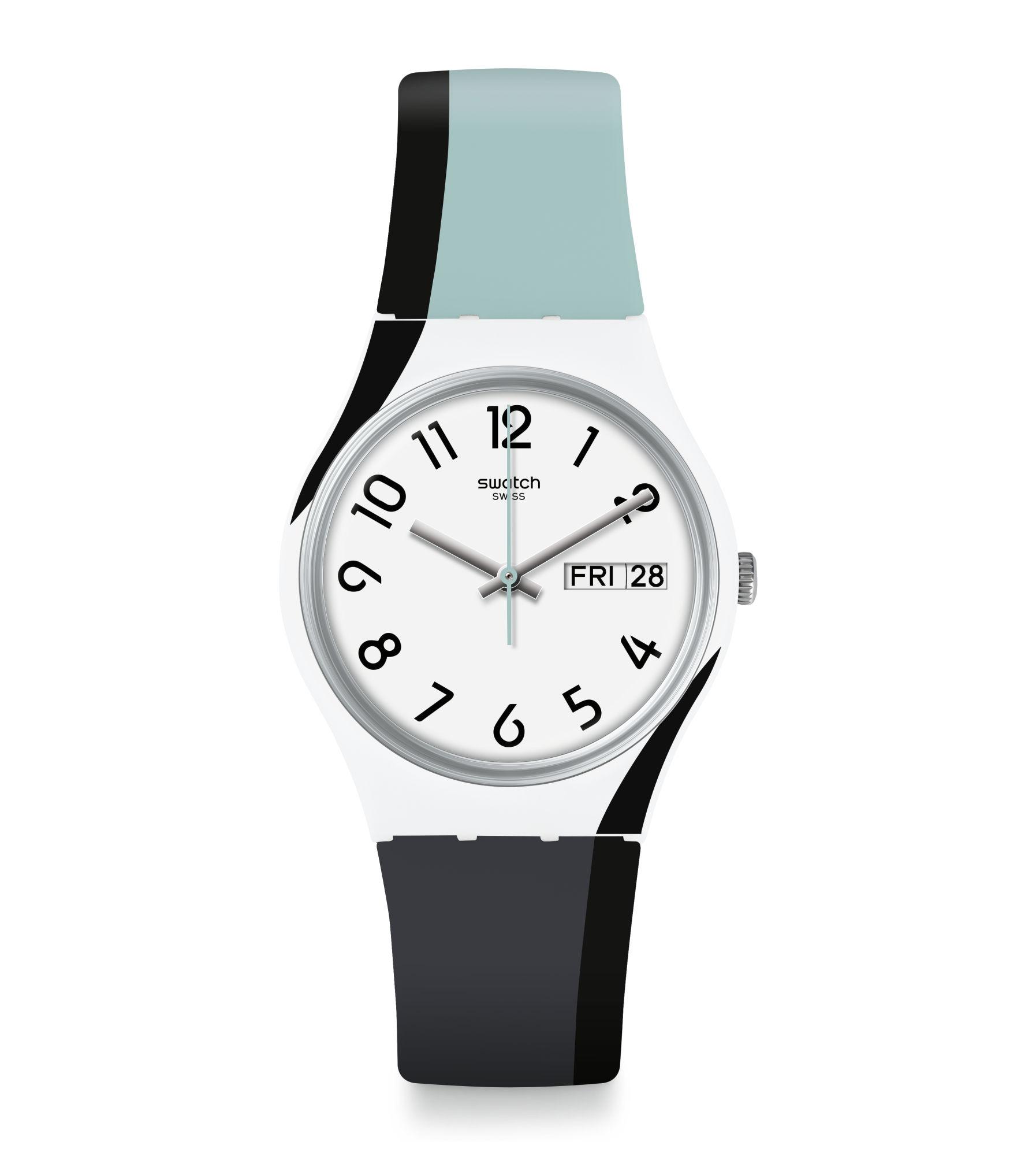 Swatch Reloj De Colores Negro Agujas TlwOPZkXiu