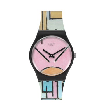 COMPOSITION IN OVAL WITH COLOR PLANES 1 BY PIET MONDRIAN, THE WATCH