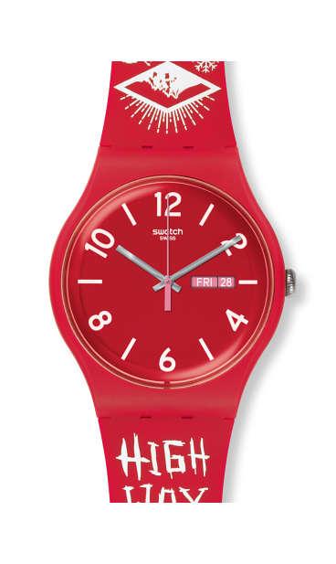 Часы swatch переход даты