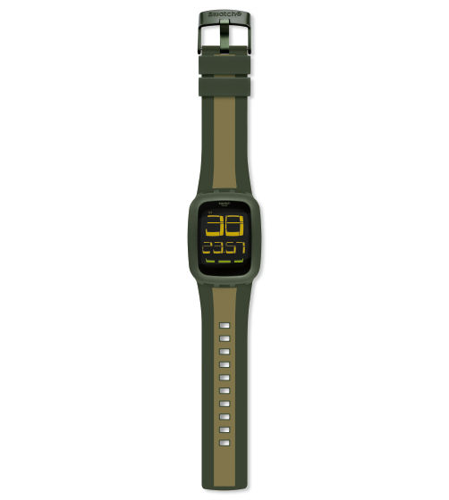 SWATCH TOUCH OLIVE & LIGHT GREEN - SURG101D