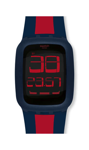 SWATCH TOUCH DARK BLUE & RED