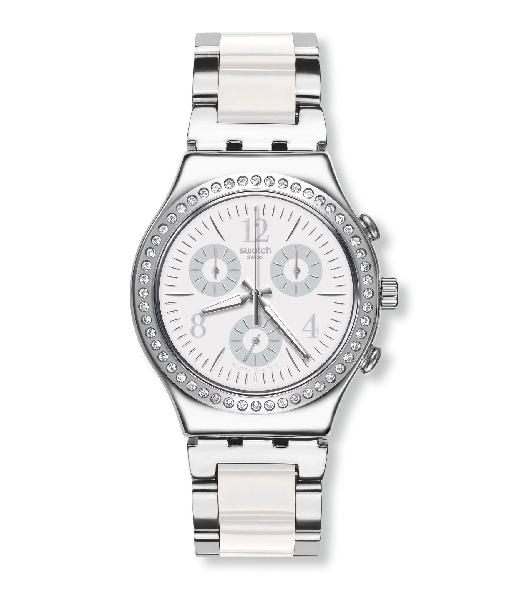 40868606af12 Swatch® United Kingdom - Chrono (Ø 40 - 47 MM) MADE IN WHITE YCS119G