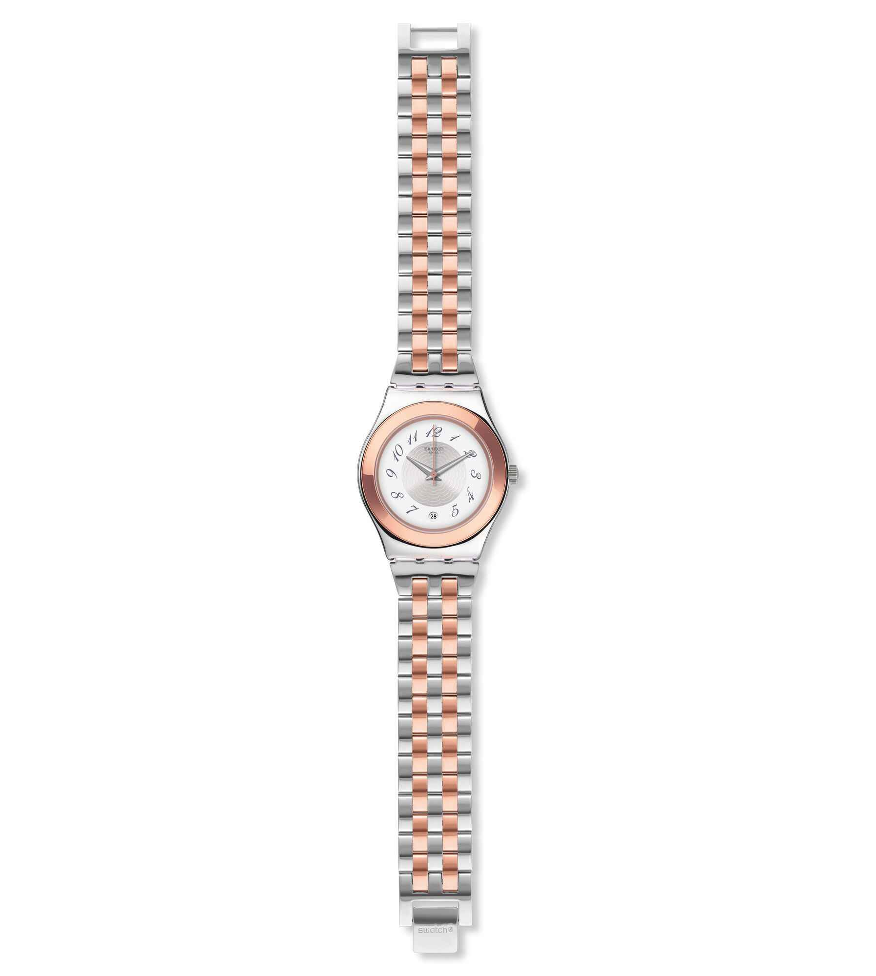 Armband Analog Edelstahl Quarz Yls454g Swatch Mit Damen Uhr g6fY7by